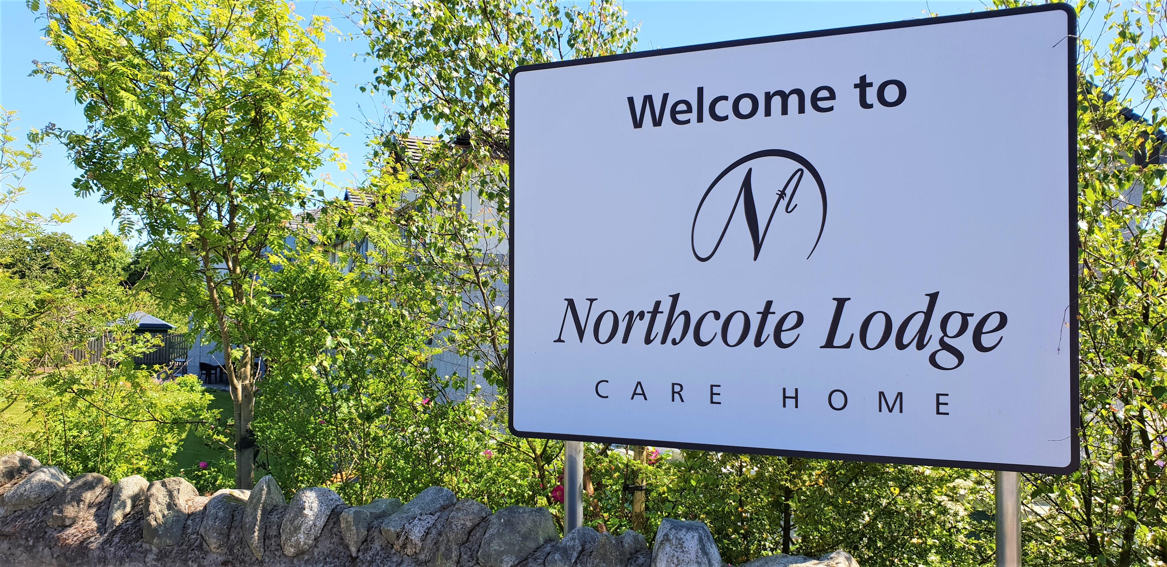 An image of Northcote Lodge Sign
